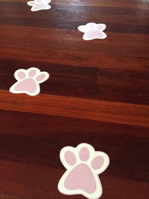 Easter Bunny Paw Prints