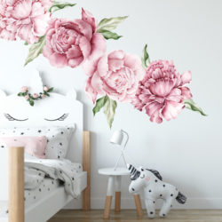 Watercolour Peony Wall Sticker