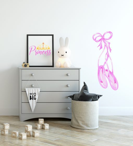 Ballet Shoe Watercolour Wall sticker