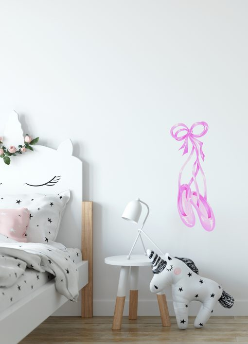 Watercolour Ballet Shoes Wall Sticker