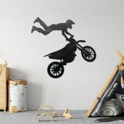 Motorbike Silhouette Wall Sticker
