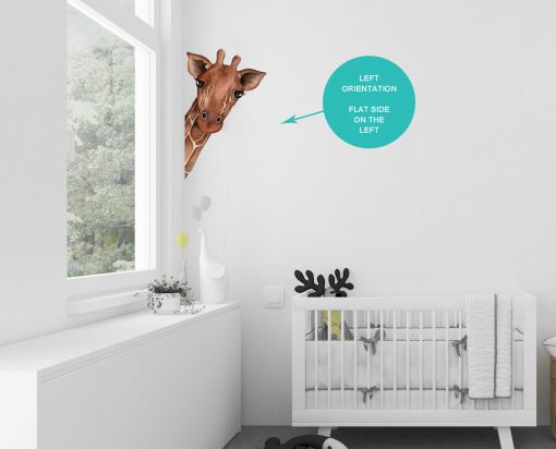 Giraffe Peeking Wall Sticker