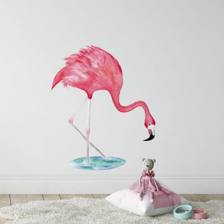 Flamingo Bending Wall Sticker
