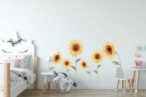 Sunflower 6 Pack Wall Stickers